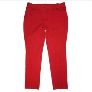 Chicos So Slimming Straight Ankle Red Denim Jeans